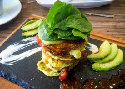 The-Remington-Motor-Inn-COrn Fritter stack 001